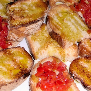 Bruschetta at da Felllicino, with triple 'l'
