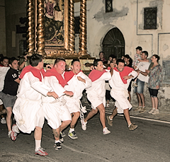 the festival of Santa Maria Assunta