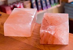 bricks of Himalayan pink salt