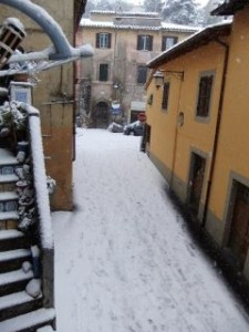 Snow in Via Marconi
